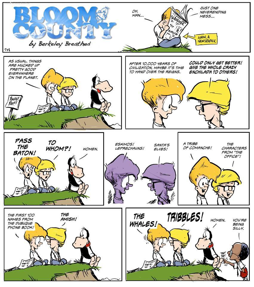 Bloom County 2019 Comic Strip for November 22, 2018