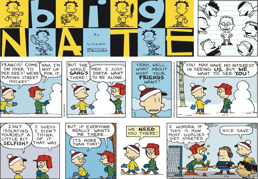 Big Nate Comic Strip for February 07, 2021