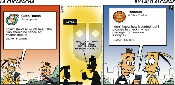 La Cucaracha on Sunday July 14, 2019 Comic Strip
