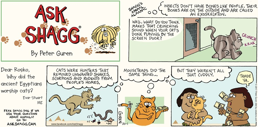 Ask Shagg for Oct 1, 2017 Comic Strip