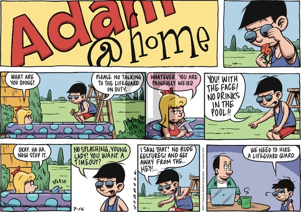Adam@Home on Sunday July 16, 2017 Comic Strip