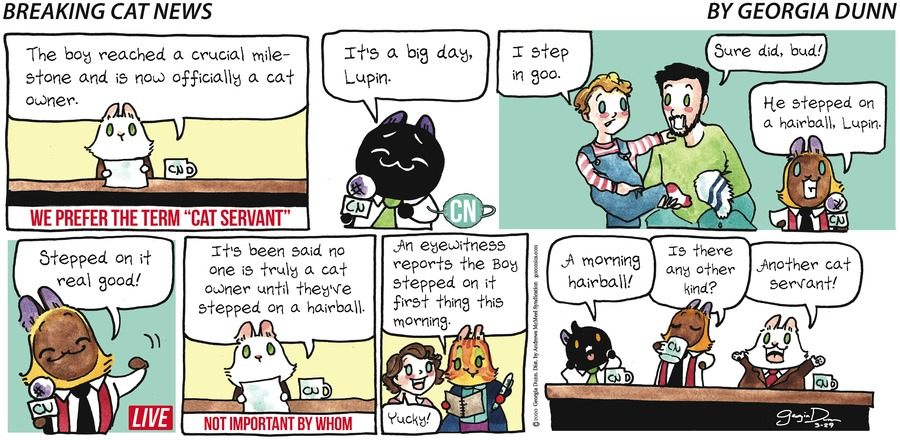 Breaking Cat News Comic Strip for March 29, 2020