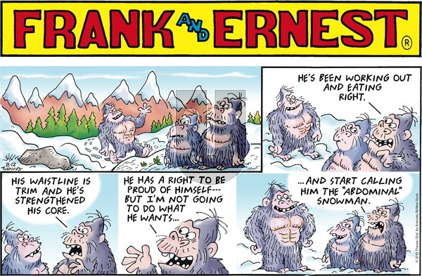 Frank and Ernest on Sunday August 12, 2018 Comic Strip