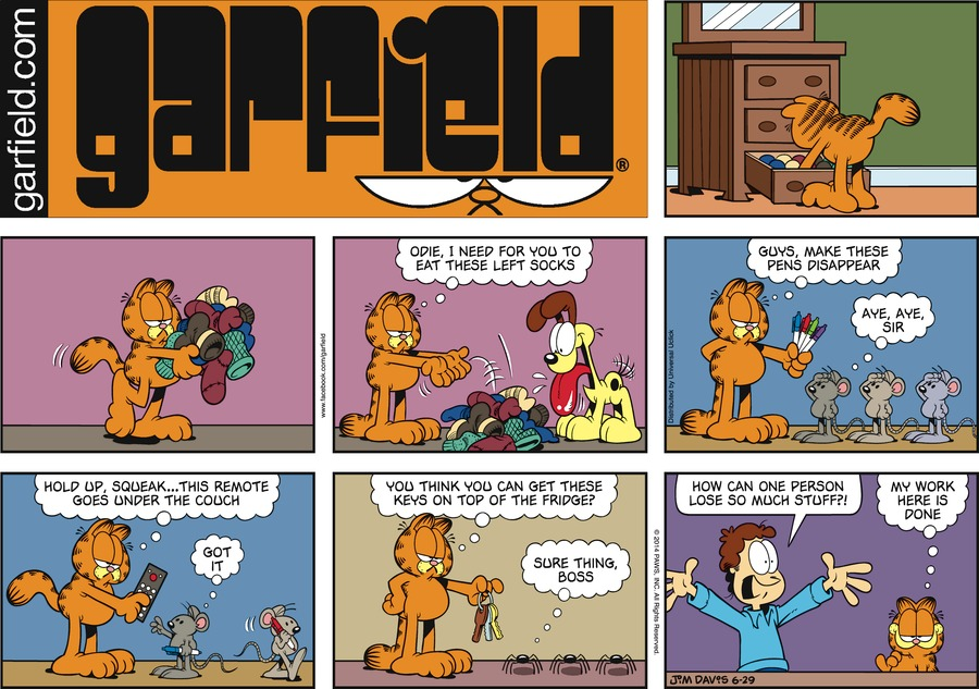 Garfield Comic Strip for June 29, 2014