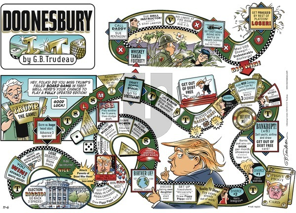 Doonesbury on Sunday November 6, 2016 Comic Strip