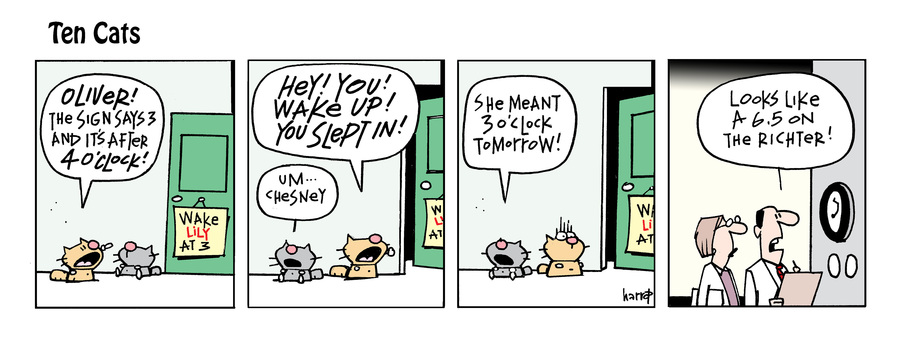 Ten Cats Comic Strip for September 23, 2021