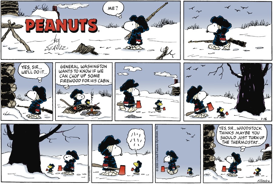 Peanuts Comic Strip for January 16, 2000