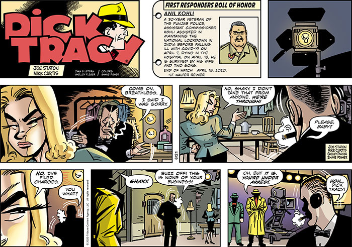 Dick Tracy Comic Strip for June 21, 2020