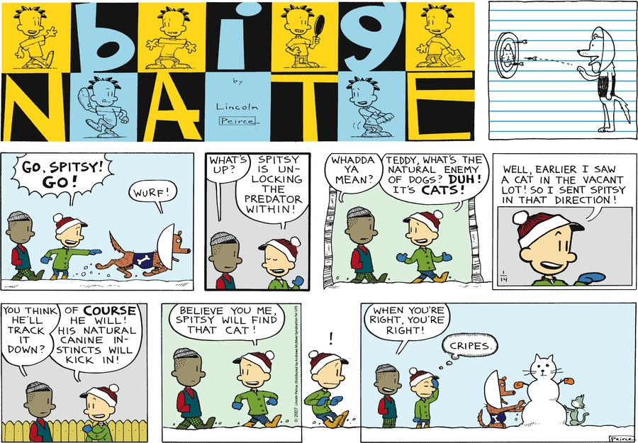 Big Nate for Jan 14, 2018 Comic Strip