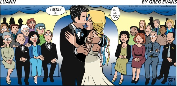 Luann - Sunday December 11, 2016 Comic Strip