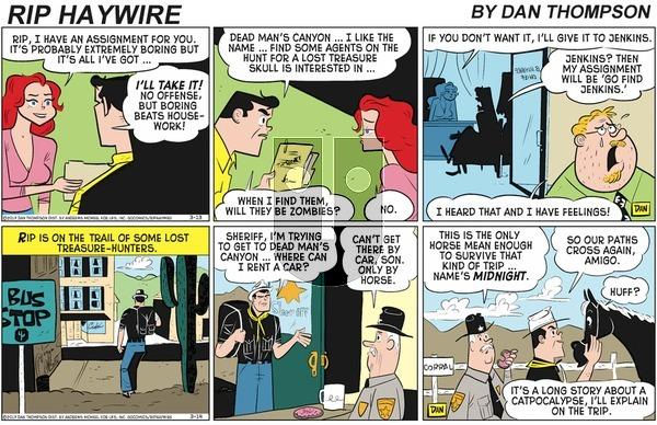 Rip Haywire - Sunday April 19, 2020 Comic Strip
