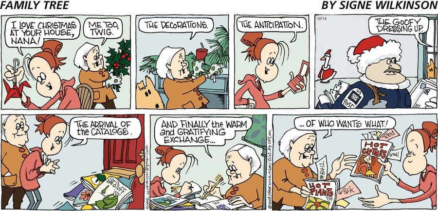 Family Tree Comic Strip for December 14, 2008