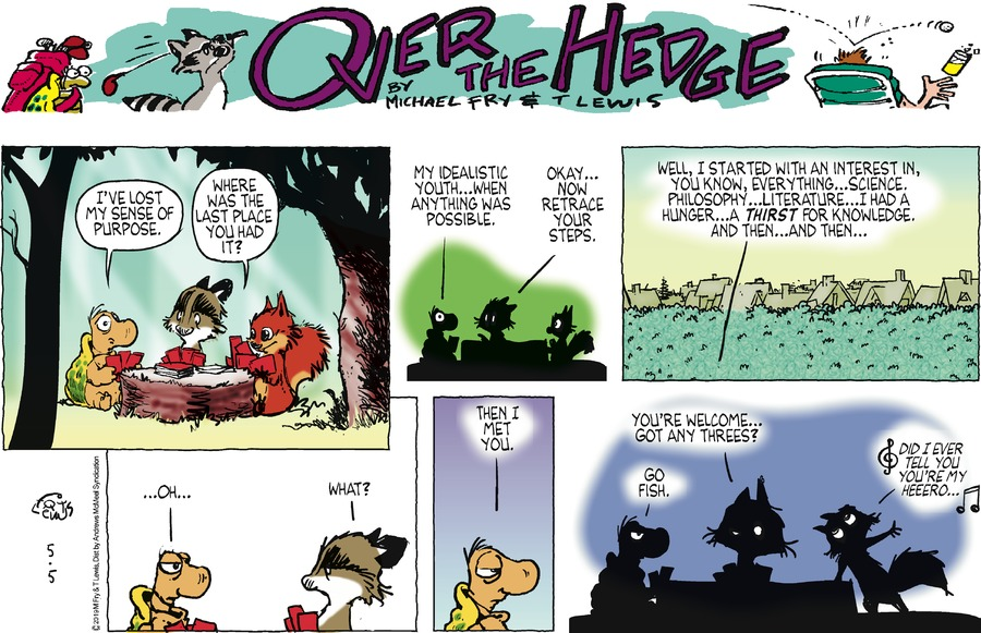 Over the Hedge by T Lewis and Michael Fry for May 05, 2019