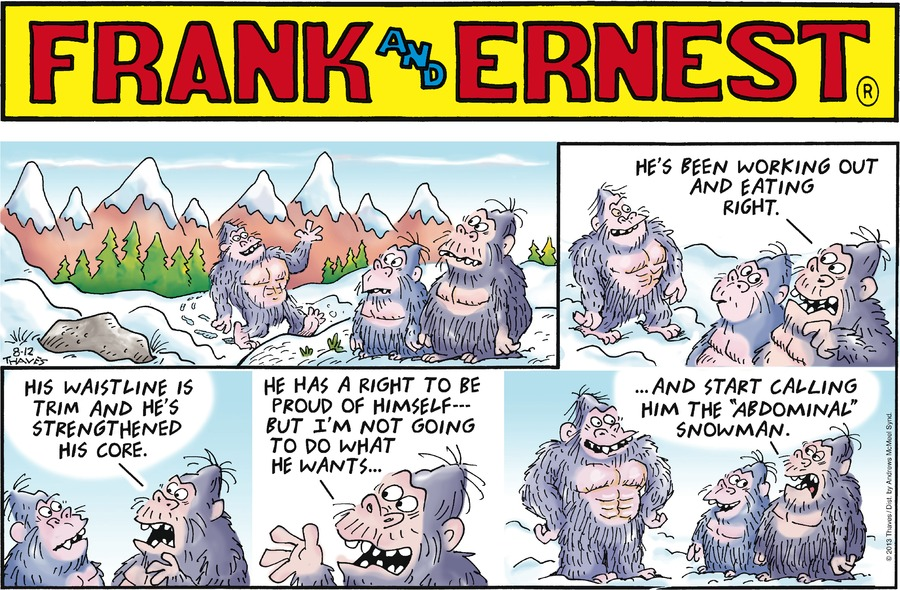 Frank and Ernest Comic Strip for August 12, 2018