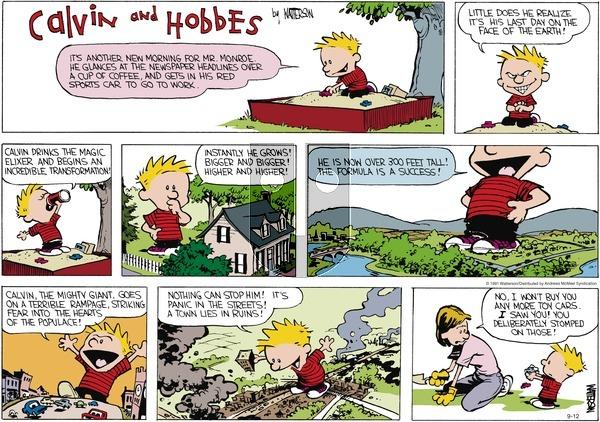 Calvin and Hobbes - Sunday September 12, 2021 Comic Strip