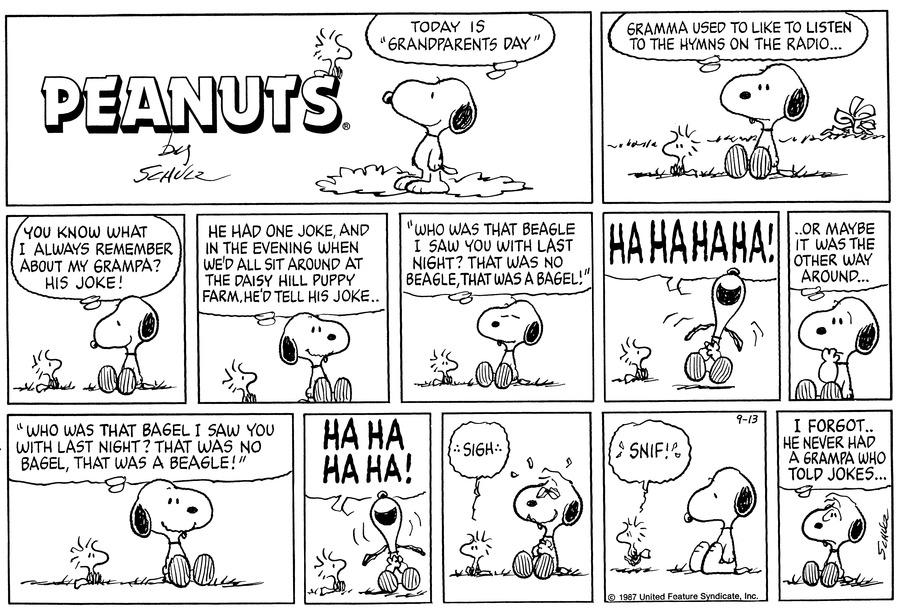 Peanuts for Sep 13, 1987 Comic Strip