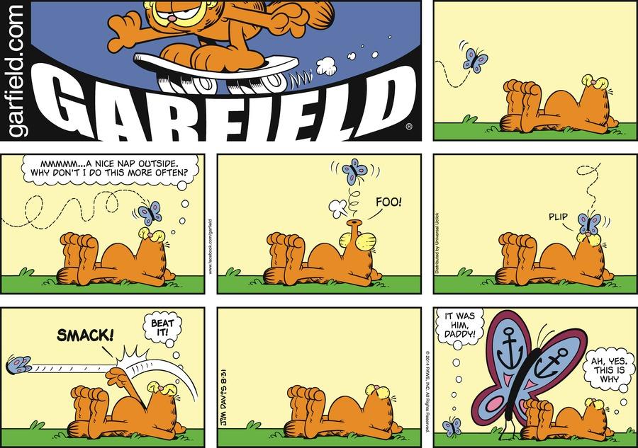 Garfield Comic Strip for August 31, 2014