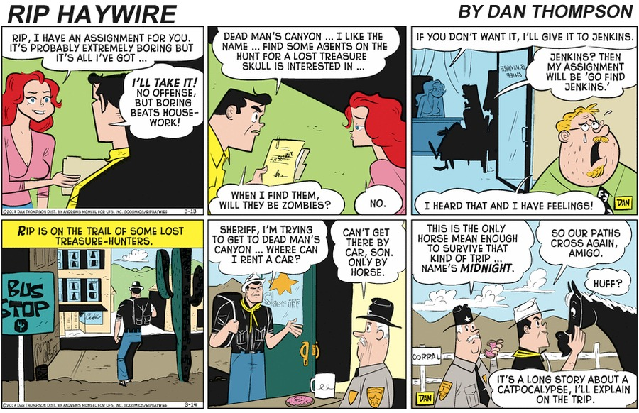Rip Haywire Comic Strip for April 19, 2020