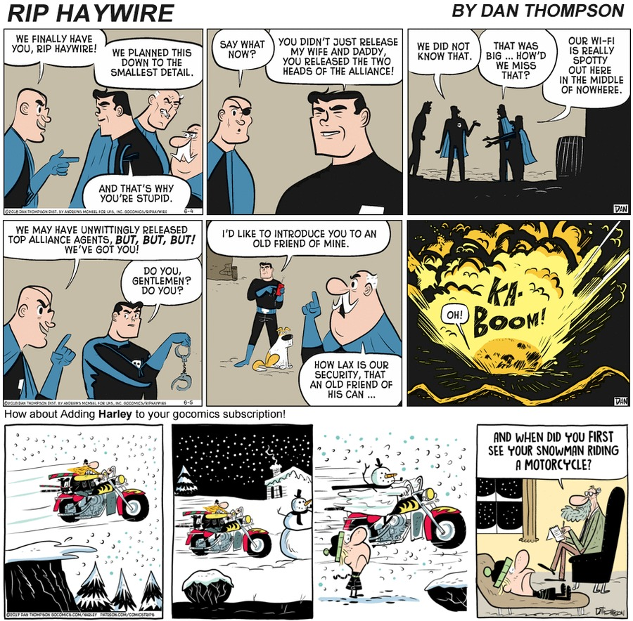 Rip Haywire Comic Strip for December 06, 2020