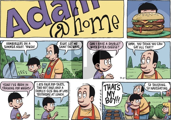 Adam@Home on Sunday July 21, 2019 Comic Strip