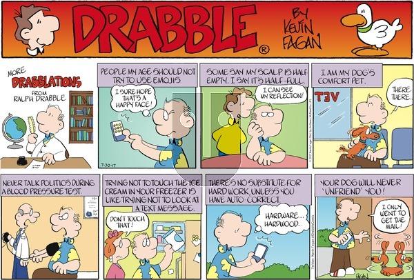 Drabble on Sunday July 30, 2017 Comic Strip