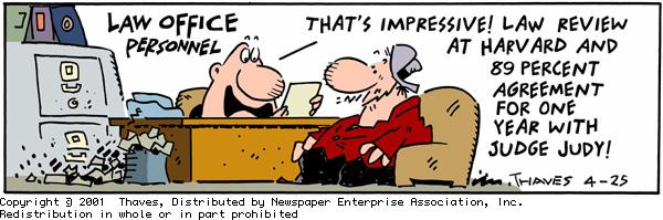 Frank and Ernest for Apr 25, 2001 Comic Strip