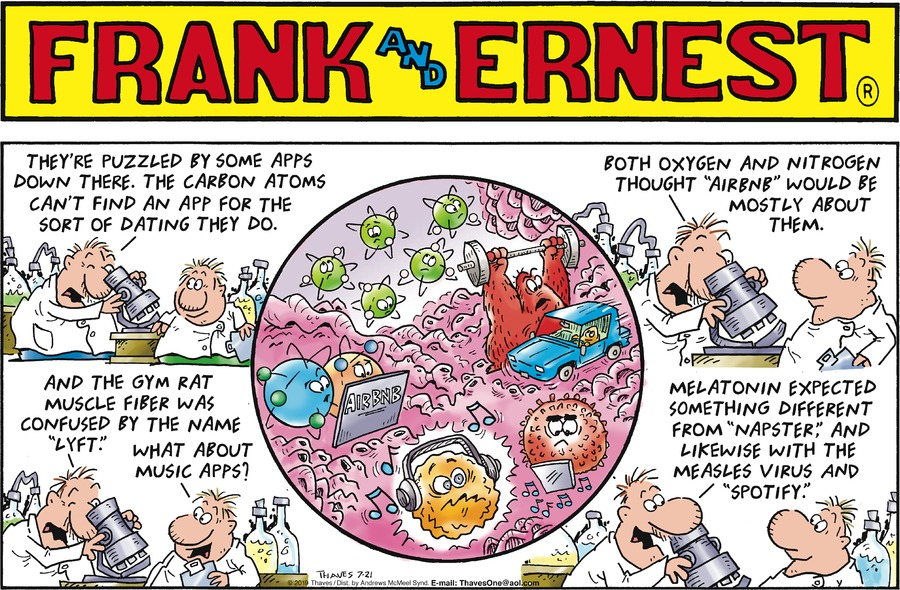 Frank and Ernest Comic Strip for July 21, 2019