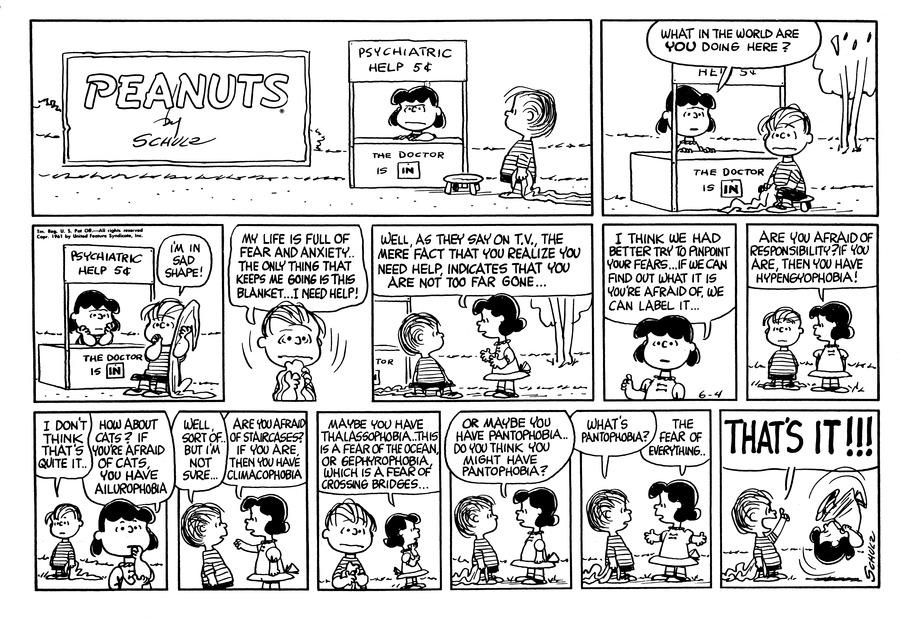 Peanuts Comic Strip for June 04, 1961