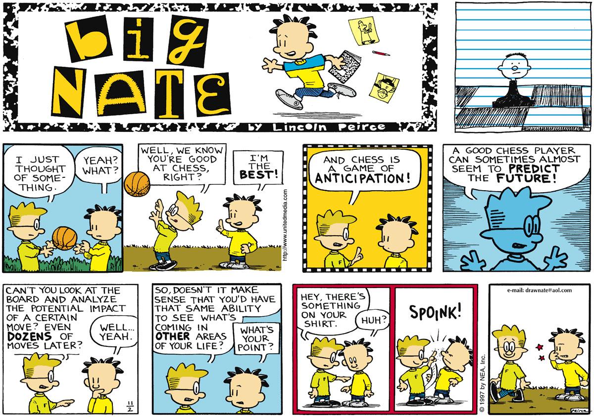 Big Nate for Nov 2, 1997 Comic Strip