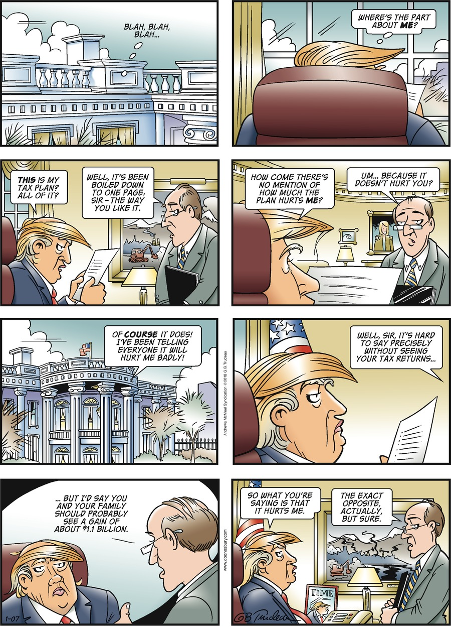 Doonesbury for Jan 7, 2018 Comic Strip