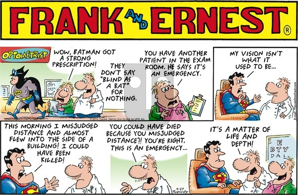 Frank and Ernest on Sunday April 27, 2014 Comic Strip