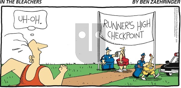 In the Bleachers on Sunday March 31, 2019 Comic Strip