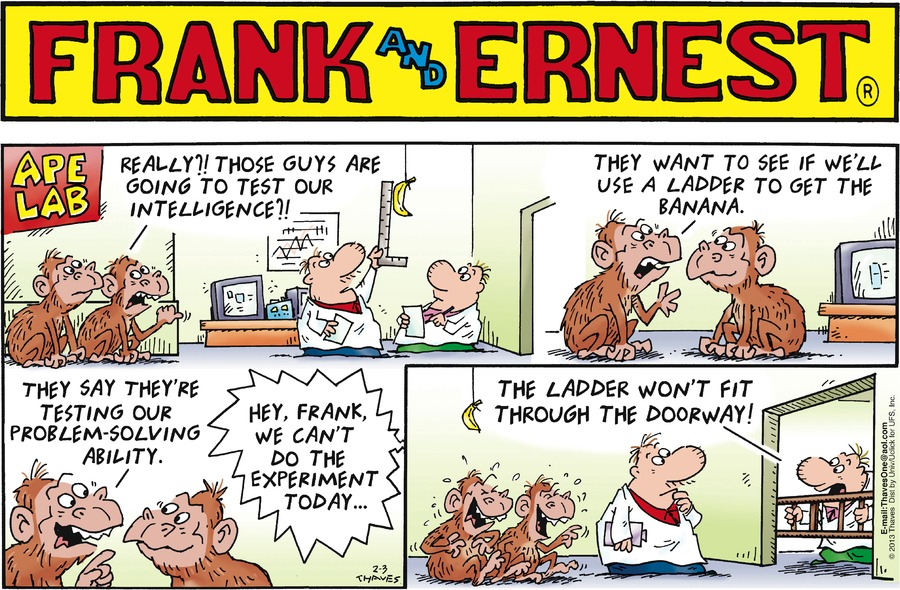 Frank and Ernest for Feb 3, 2013 Comic Strip