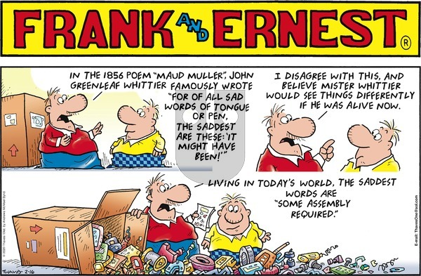 Frank and Ernest on Sunday February 16, 2020 Comic Strip