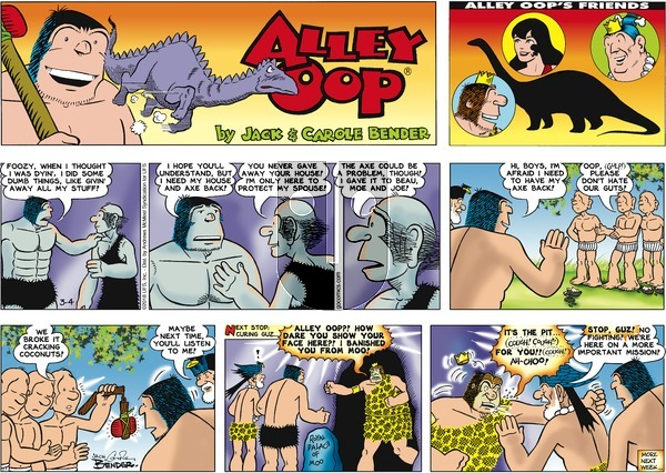Alley Oop on Sunday March 4, 2018 Comic Strip