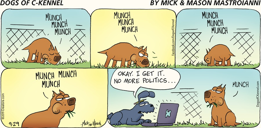 Dogs of C-Kennel Comic Strip for September 29, 2019