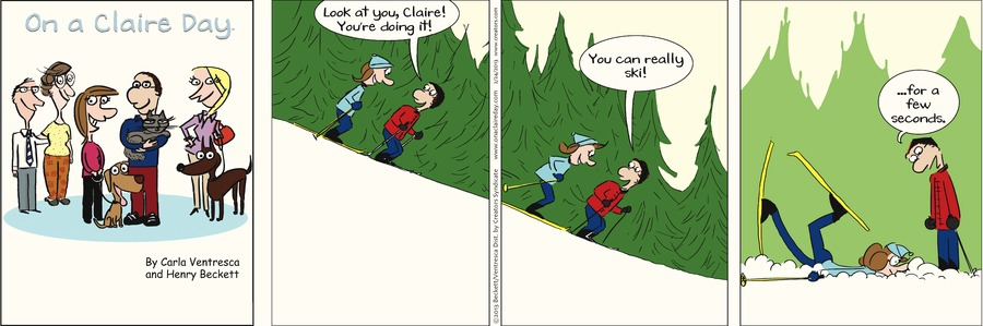 On A Claire Day Comic Strip for February 22, 2021