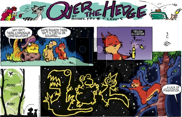 Over the Hedge on Sunday April 11, 2021 Comic Strip