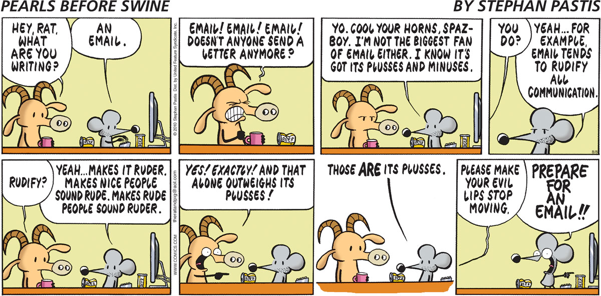 Pearls Before Swine Comic Strip for August 08, 2010