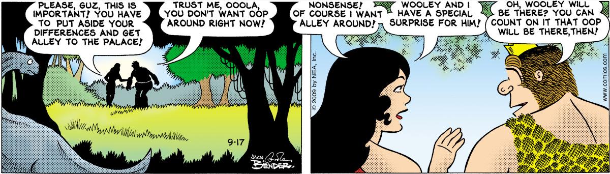 Alley Oop for Sep 17, 2009 Comic Strip