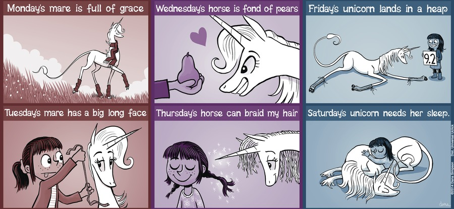 Phoebe and Her Unicorn for Feb 17, 2013 Comic Strip