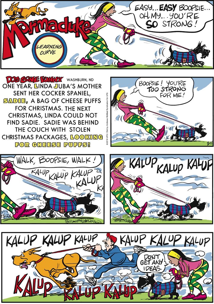 Marmaduke for Feb 11, 2018 Comic Strip