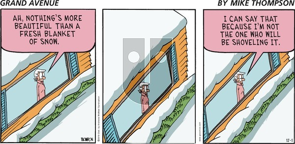 Grand Avenue on Sunday December 1, 2019 Comic Strip