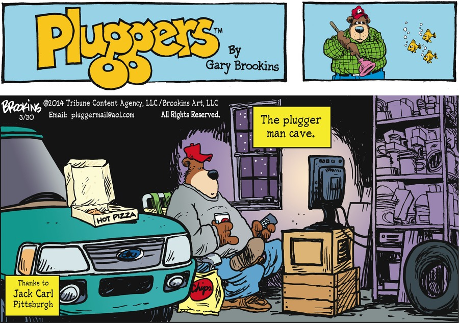 Pluggers for Mar 30, 2014 Comic Strip