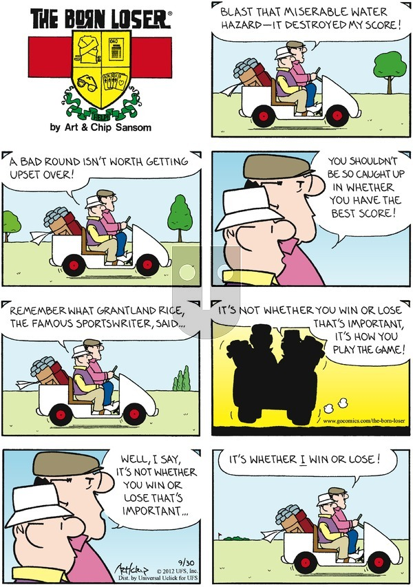 The Born Loser on Sunday September 30, 2012 Comic Strip