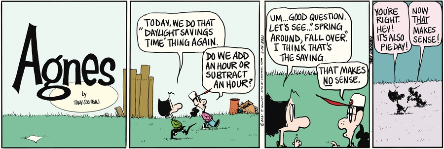 Agnes Comic Strip for March 14, 2021