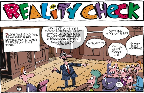 Reality Check on Sunday February 25, 2018 Comic Strip