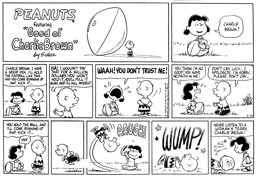 Peanuts Comic Strip for September 28, 1969