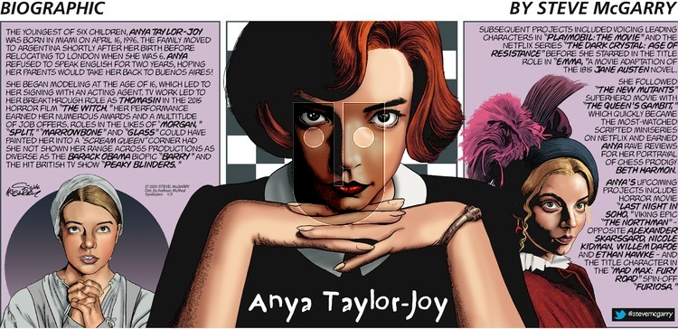 Biographic on Sunday January 3, 2021 Comic Strip