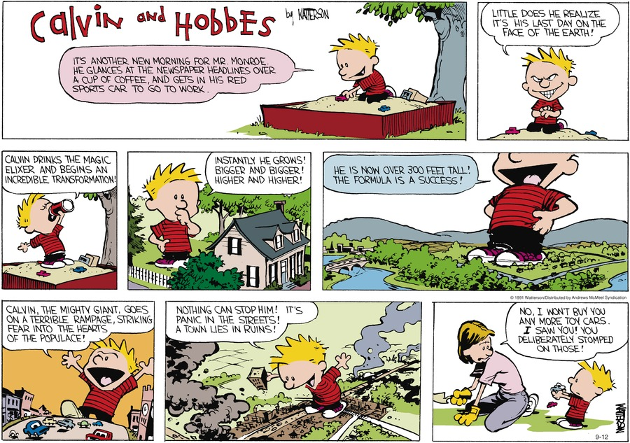 Calvin and Hobbes Comic Strip for September 12, 2021